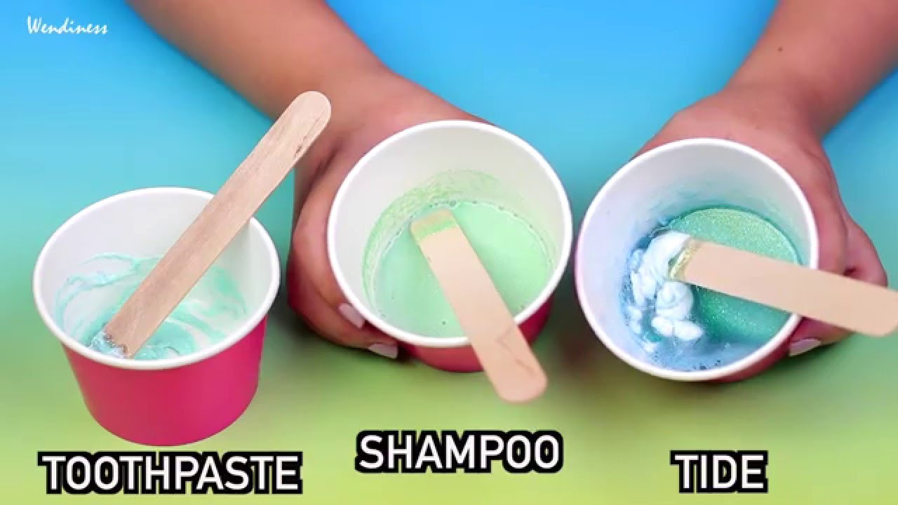Slime Testcan You Really Make Diy Slime With Toothpaste, Shampoo, Tide?  Without Borax  Youtube