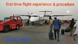First time flight experience in telugu || Travel Volga || domestic flight||