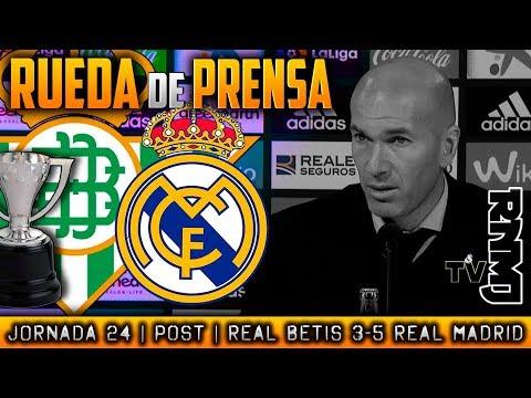 Betis 3-5 Real Madrid Rueda de prensa de Zidane (18/02/2018) | POST LIGA JORNADA 24