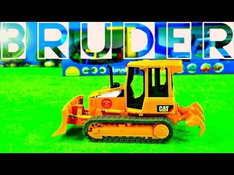 BRUDER Set Unboxing, Traktor Kinder, Mähdrescher, Bagger & Lastwagen, TOYSCo Spielzeug Für Kinder