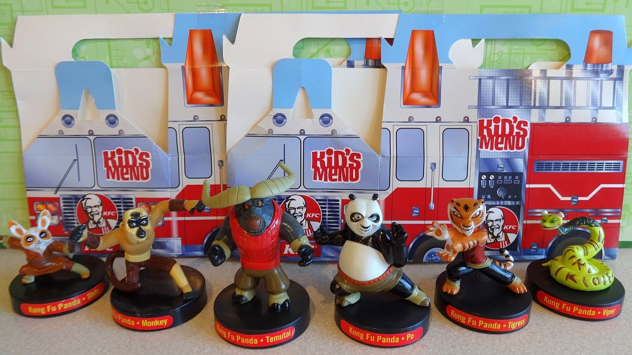 Kung Fu Panda Legends Of Awesomeness Kfc Kids Meals Figures Full