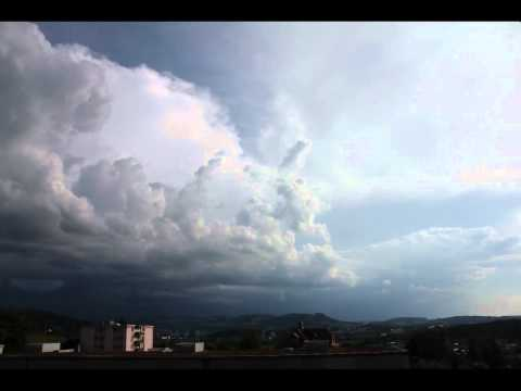 Weather-front over Bern - time-lapse video