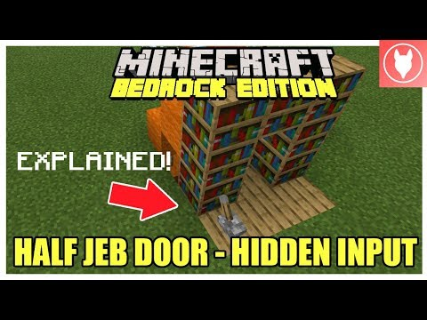 Minecraft Bedrock - Half Jeb Door: Hidden Input (Xbox/MCPE/Windows 10/Switch)