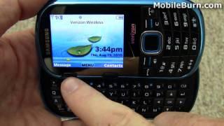 Samsung Intensity II for Verizon video tour