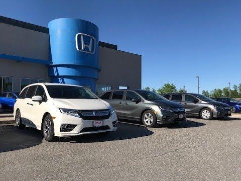 2018 Honda Odyssey LX, EX, Touring comparison
