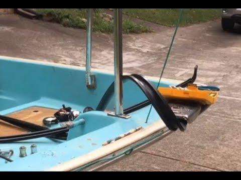Boston Whaler rub rail and bow light chock installation