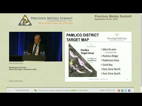 Robert Carrington speaks at Beaver Creek Mining Conference 2018