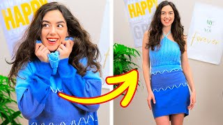 40 WAYS TO UPGRADE YOUR OLD CLOTHES || 5-Minute Fashion Recipes