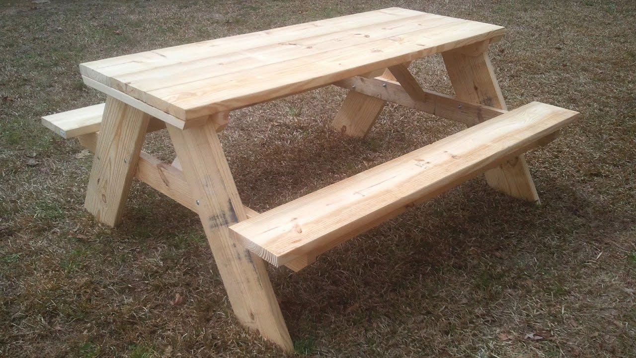 Strong And Easy Picnic Table Free Plans Jays Custom Creations