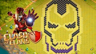 LAYOUT DO HOMEM DE FERRO ( Iron Man ) - CLASH OF CLANS