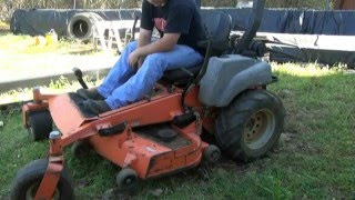 Lawn mower spindle bearing replace and new cordless grease gun