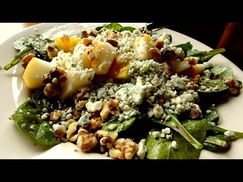 Best Spinach Salad Recipe -Pear, Blue Cheese, Walnuts, W/ Raspberry Vinegrette