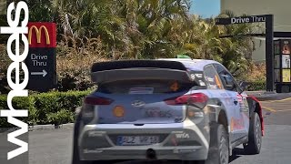 Hyundai i20 WRC car visits McDonald's drive-thru | Wheels Plus | Wheels Australia