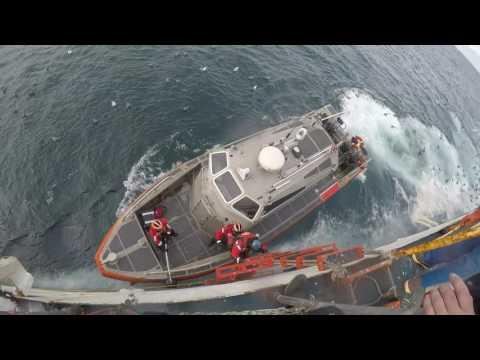 Coast Guard Cutter Bertholf patrols Bering Sea