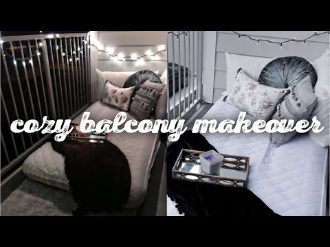 Cozy Apartment Balcony Makeover On A Budget - Only $100 - Pinterest Inspired