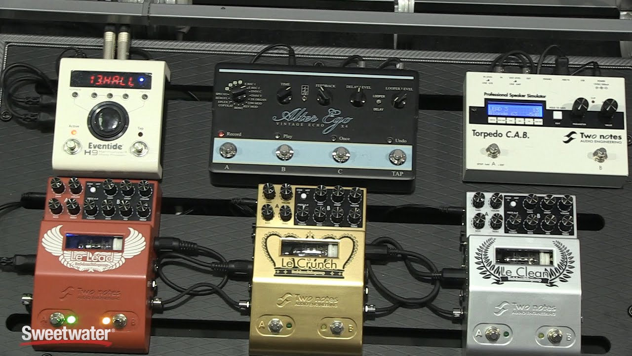 winter namm 2016 two notes le clean le crunch and le lead preamp pedals youtube. Black Bedroom Furniture Sets. Home Design Ideas