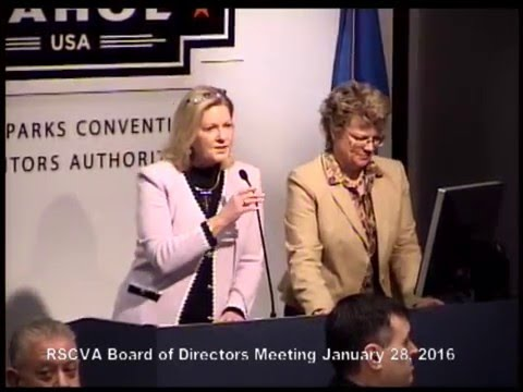 RSCVA Board of Directors Meeting January 28, 2016
