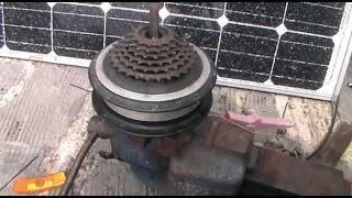 DIY geared wind turbine from 36v DC bike motor part 3