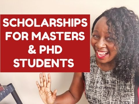 SCHOLARSHIPS FOR MASTERS & PHD STUDENTS
