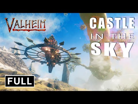 Valheim - Castle in the Sky - How to Build Epic Floating Base in Plains (NO CHEAT, NO MOD)
