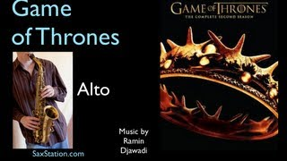 How to Play Game of Thrones Theme on Alto Saxophone, Alto Sax