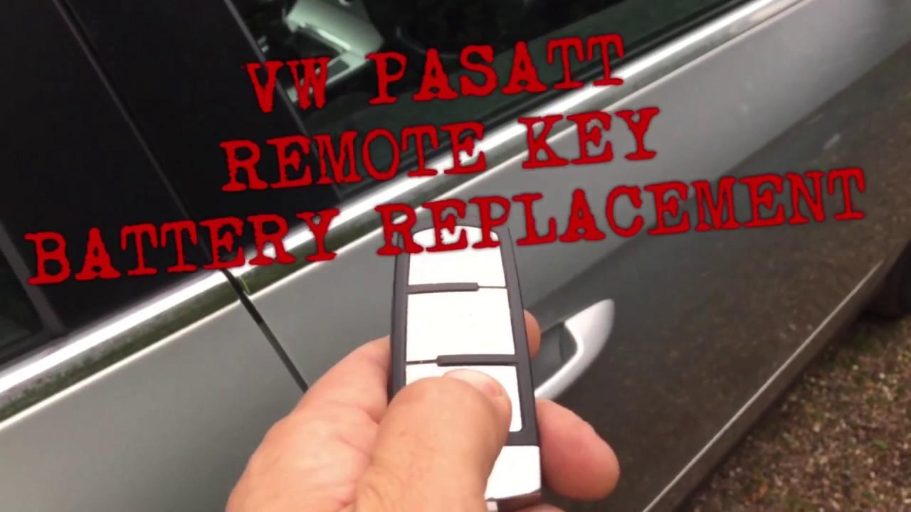 Vw Pat Remote Key Battery Replacement