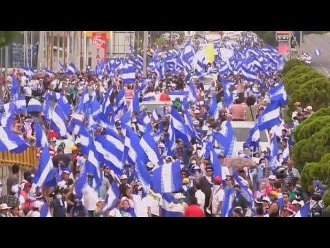 Nicaragua's Ortega blames bloodshed on pro-democracy protesters