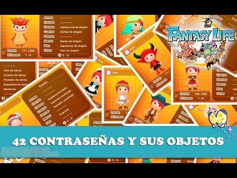 42 Contraseñas y sus Objetos - Fantasy Life