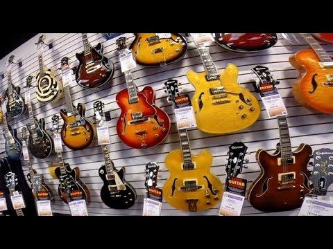 США. Музыкальный МАГАЗИН George's Music, Огромный выбор ГИТАР и не только! Орландо, Флорида