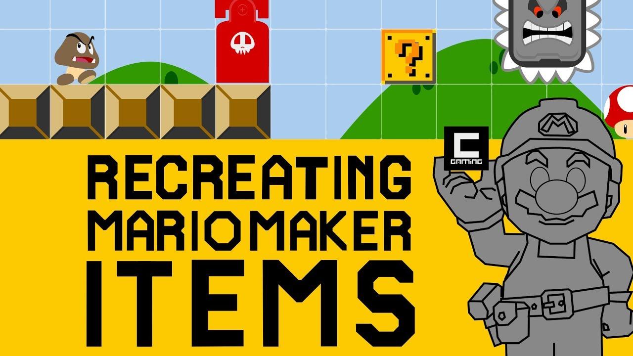 Recreating Super Mario Maker Items in Super Mario Maker