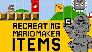 Recreating Super Mario Maker Items in Super Mario Maker.