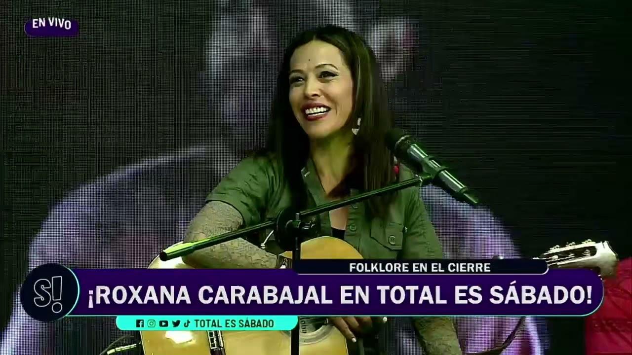 """Roxana Carabajal armó una """"peñita"""" en """"Total es Sábado"""""""