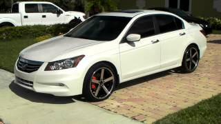 www.DUBSandTIRES.com 20 Inch wheels Giovanna Mecca 2011 Honda Accord Machined Black Concave rims