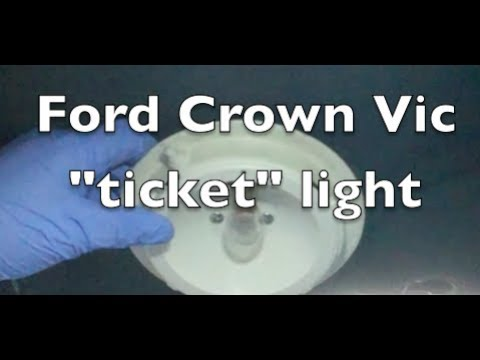 Ford Crown Victoria P Pb Ticket Light