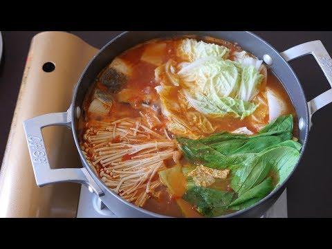 Codfish and Vegetables Tomato Hot Pot ASMR