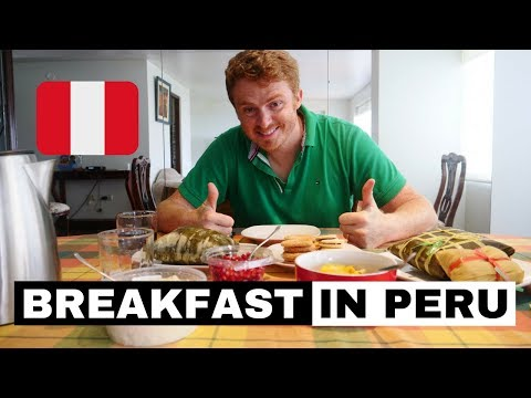 Peruvian Breakfast in Lima, Peru