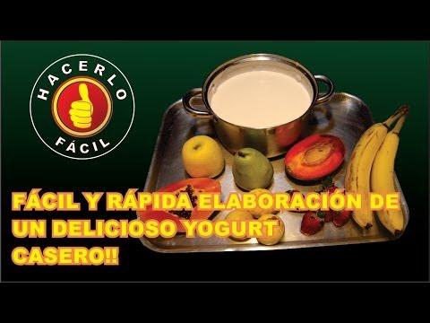 EXQUISITO YOGURT CASERO - ELABORACIÓN DE  UN DELICIOSO YOGURT  CASERO!! | Hacerlo Fácil