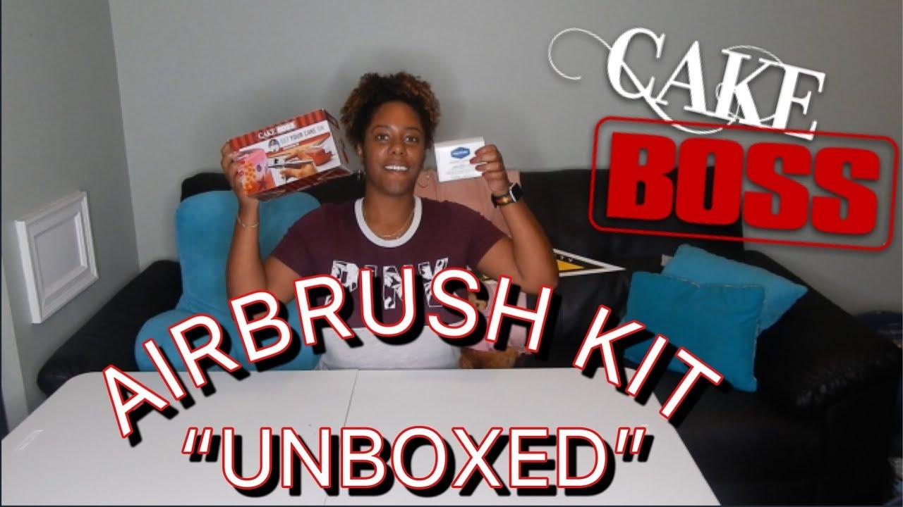 CAKE BOSS AIRBRUSH KIT UNBOX || CAKE BOSS 50660 DECORATING ...