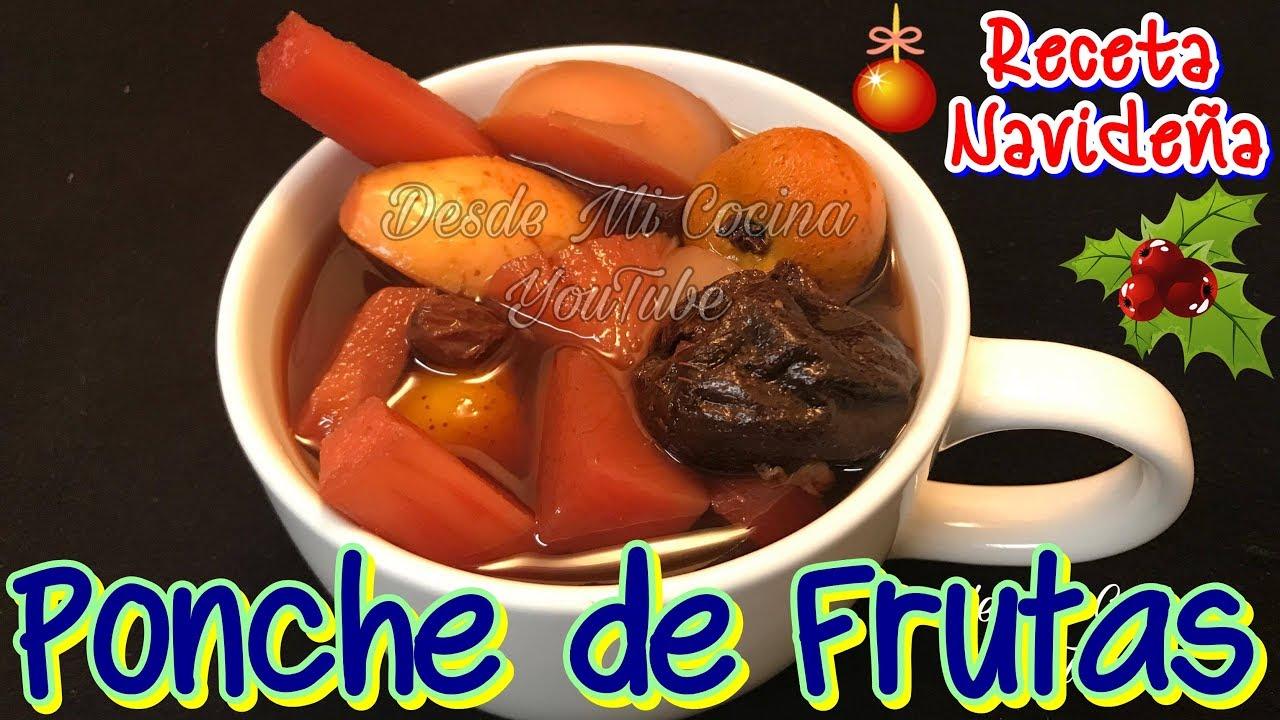 Ponche de frutas navide o delicioso y facil desde mi for Youtube videos de cocina