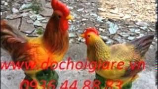 tượng gà trống gà mái, gà trống gà mái composite, tượng đôi gà
