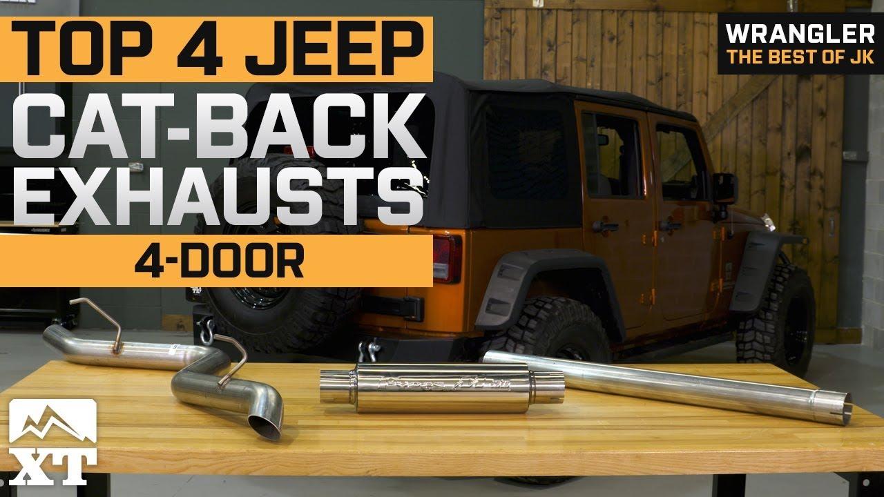 the 4 best jeep wrangler cat back exhausts for 2007 2018 jk 4 door