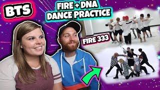 [CHOREOGRAPHY] BTS (방탄소년단) '불타오르네 (FIRE)' Dance Practice and 'DNA' Dance Practice Reaction