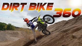 TRYING TO 360 A DIRT BIKE!!!