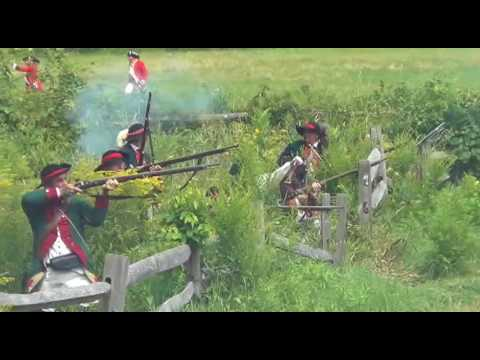 Old Sturbridge Village's 2017 Redcoats & Rebels military reenactment featuring over 1,000 actors