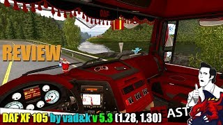 """[""""ETS2"""", """"Euro Truck Simulator 2"""", """"UPDATE truck mod DAF XF 105 by vad&k v5.3 review""""]"""