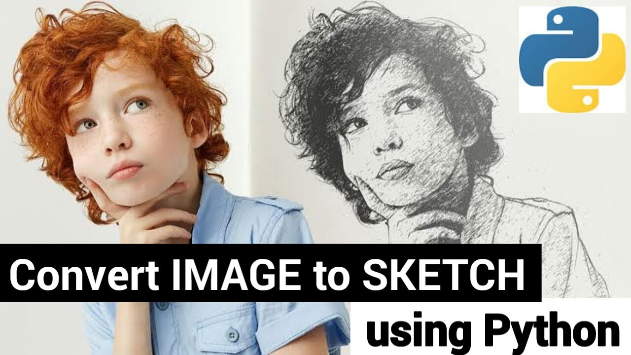 How to convert Image into Sketch using Python | Converting Image to Sketch ( 5 Lines of Code )