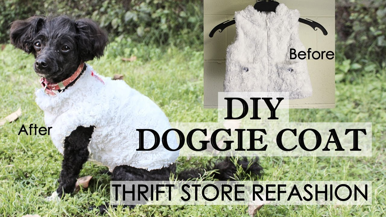 Easy Diy Dog Coat Refashion Making Cute Dog Clothes From Baby