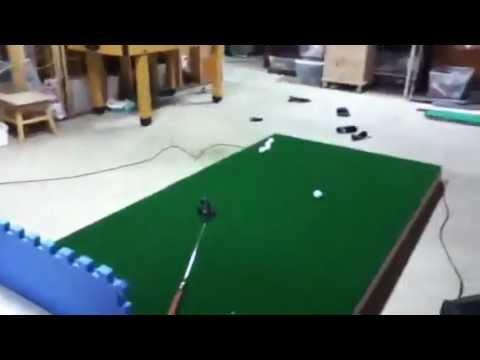 Indoor putting green - YouTube