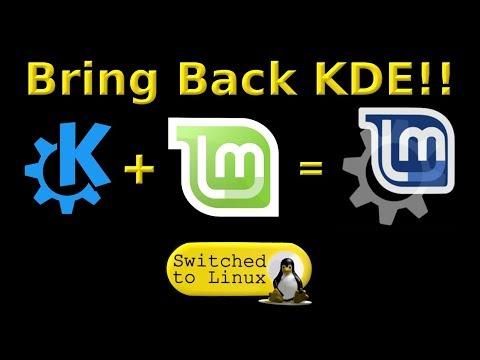 Installing KDE on Linux Mint 19