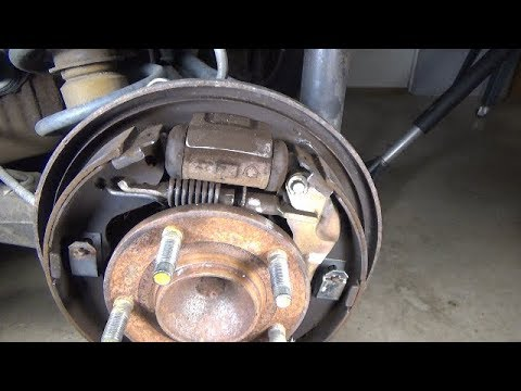 Drum Brake Shoes Replacement 2001 2007 Ford Escape